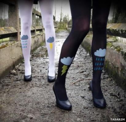Renkli Kilotlu Çoraplar