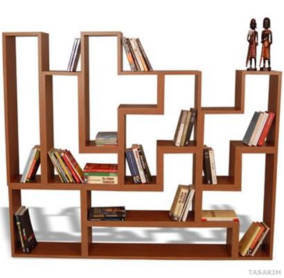 Tetra Kitaplık Vitrin Model-1